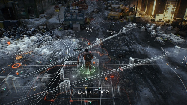 the division map ui