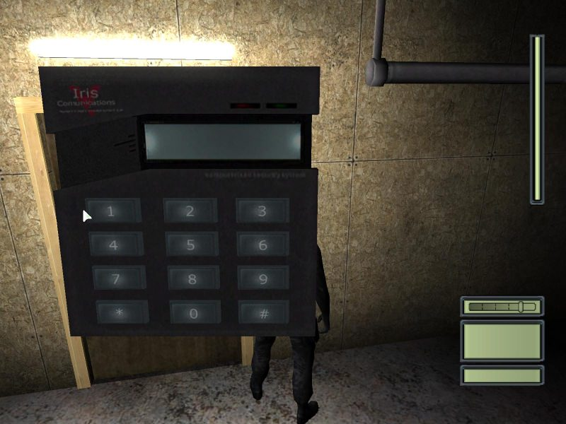 splinter cell numpad UI